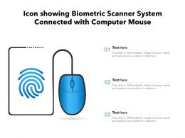 Icon Showing Biometric Scanner System Connected With Computer Mouse