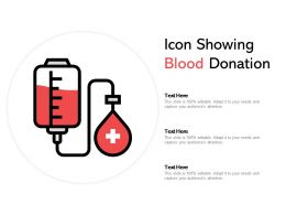 Icon Showing Blood Donation