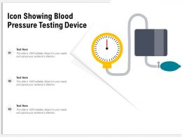 Icon Showing Blood Pressure Testing Device