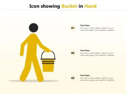 Icon Showing Bucket In Hand
