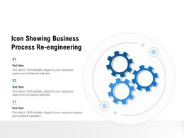 Icon Showing Business Process Re Engineering