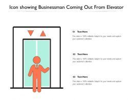 Icon Showing Businessman Coming Out From Elevator