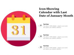 Icon Showing Calendar With Last Date Of January Month