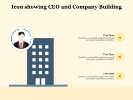 Icon Showing CEO And Company Building