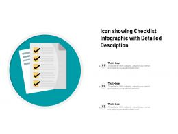 Icon Showing Checklist Infographic With Detailed Description