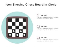 Icon Showing Chess Board In Circle