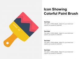 Icon Showing Colorful Paint Brush