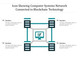 Icon Showing Computer Systems Network Connected To Blockchain Technology