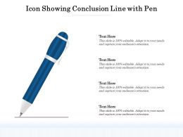Icon Showing Conclusion Line With Pen