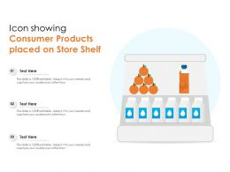 Icon Showing Consumer Products Placed On Store Shelf