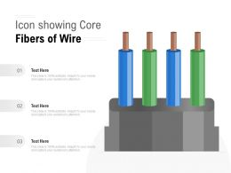 Icon Showing Core Fibers Of Wire