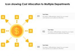 Icon Showing Cost Allocation To Multiple Departments