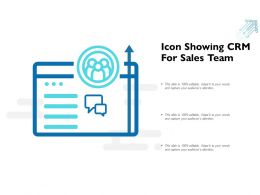 Icon Showing CRM For Sales Team