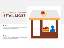 Icon Showing Customer In Retail Store