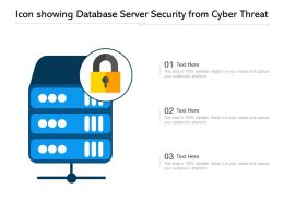 Icon Showing Database Server Security From Cyber Threat