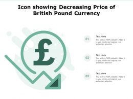 Icon Showing Decreasing Price Of British Pound Currency