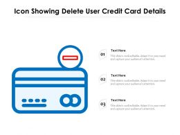 Icon Showing Delete User Credit Card Details