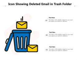 Icon Showing Deleted Email In Trash Folder