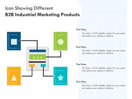 Icon Showing Different B2B Industrial Marketing Products