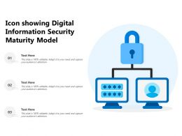 Icon Showing Digital Information Security Maturity Model