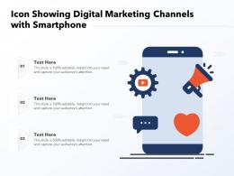 Icon Showing Digital Marketing Channels With Smartphone