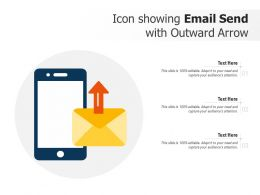 Icon Showing Email Send With Outward Arrow