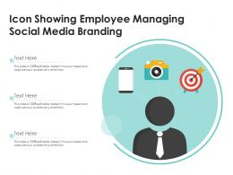 Icon Showing Employee Managing Social Media Branding