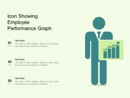 Icon Showing Employee Performance Graph