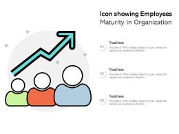 Icon Showing Employees Maturity In Organization