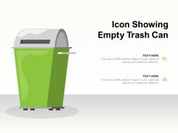 Icon Showing Empty Trash Can
