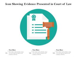 Icon Showing Evidence Presented In Court Of Law