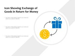 Icon Showing Exchange Of Goods In Return For Money