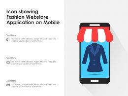 Icon Showing Fashion Webstore Application On Mobile
