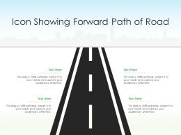 Icon Showing Forward Path Of Road