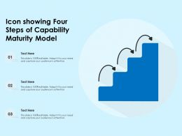 Icon Showing Four Steps Of Capability Maturity Model
