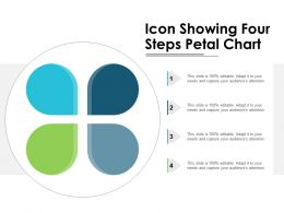 Icon Showing Four Steps Petal Chart