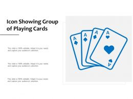 Icon Showing Group Of Playing Cards