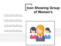 Icon Showing Group Of Womens