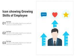 Icon Showing Growing Skills Of Employee