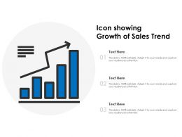 Icon Showing Growth Of Sales Trend
