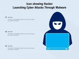 Icon Showing Hacker Launching Cyber Attacks Through Malware