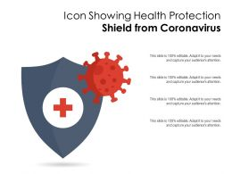 Icon Showing Health Protection Shield From Coronavirus