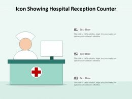 Icon Showing Hospital Reception Counter