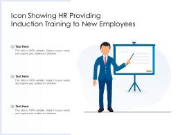 Icon Showing HR Providing Induction Training To New Employees