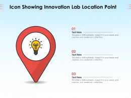 Icon Showing Innovation Lab Location Point