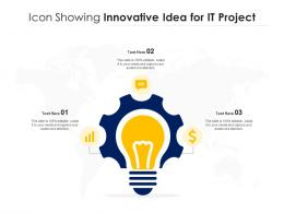 Icon Showing Innovative Idea For IT Project