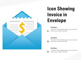 Icon Showing Invoice In Envelope
