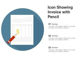 Icon Showing Invoice With Pencil
