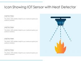 Icon Showing IOT Sensor With Heat Detector