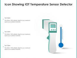 Icon Showing IOT Temperature Sensor Detector